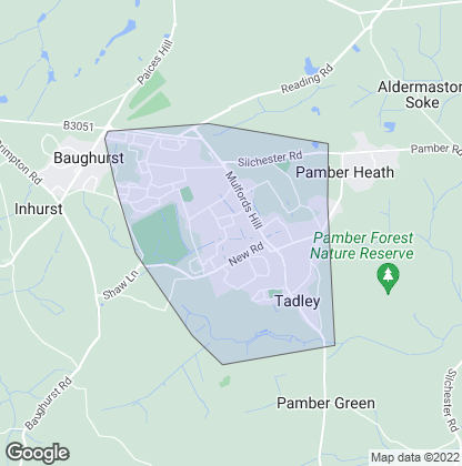 Map of property in Tadley