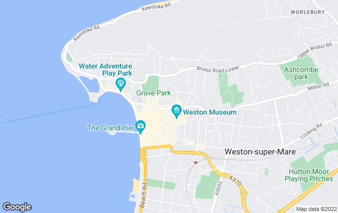 Map for Bairstow Eves Lettings, Weston-Super-Mare