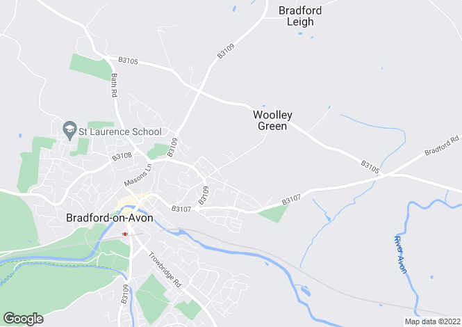 Map for Woolley Street, Bradford On Avon, BA15