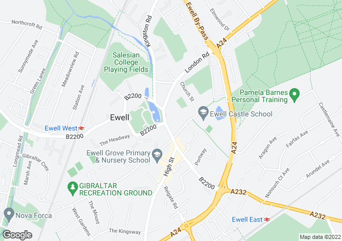 Map for Austyns Place, High Street, Ewell, Epsom, KT17