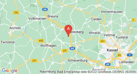 map of Rohrberg (Germany)