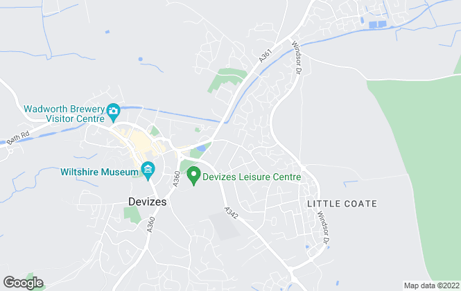 Map for Caulfields Residential Sales, Devizes