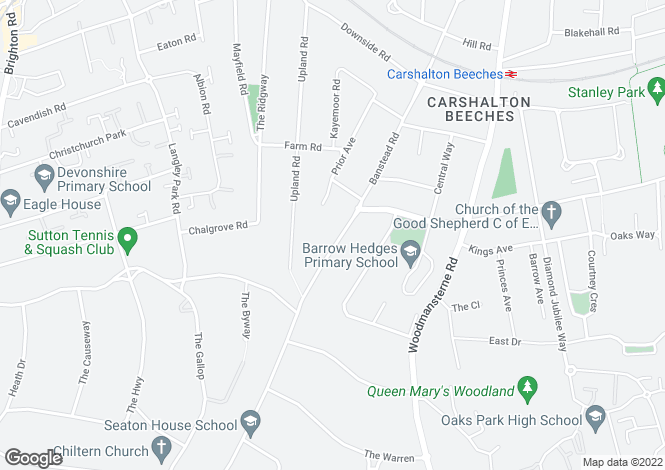 Map for Banstead Road, Carshalton Beeches, SM5