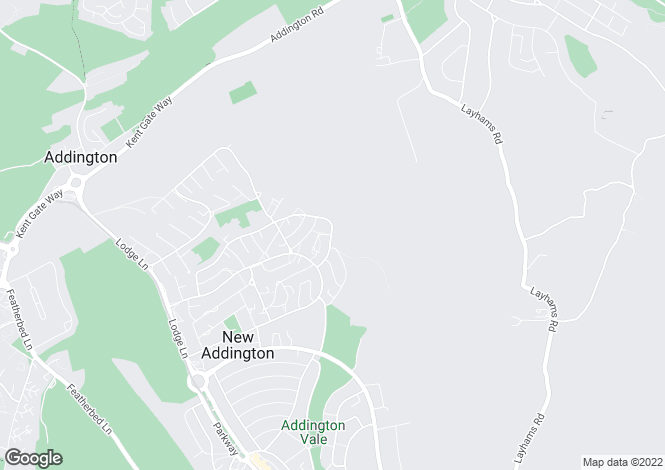 Map for New Addington, Croydon, CR0