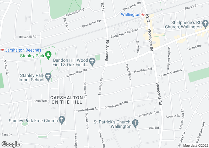 Map for Boundary Road,