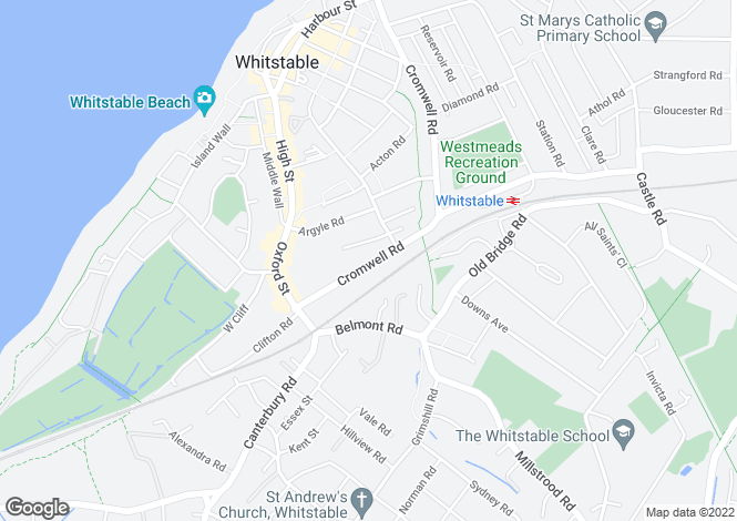 Map for Cromwell Road, Whitstable CT5