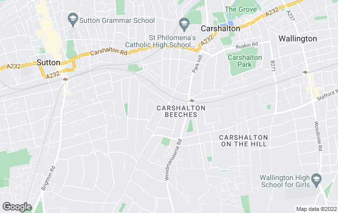 Map for Cromwells Estate Agents, Carshalton Beeches