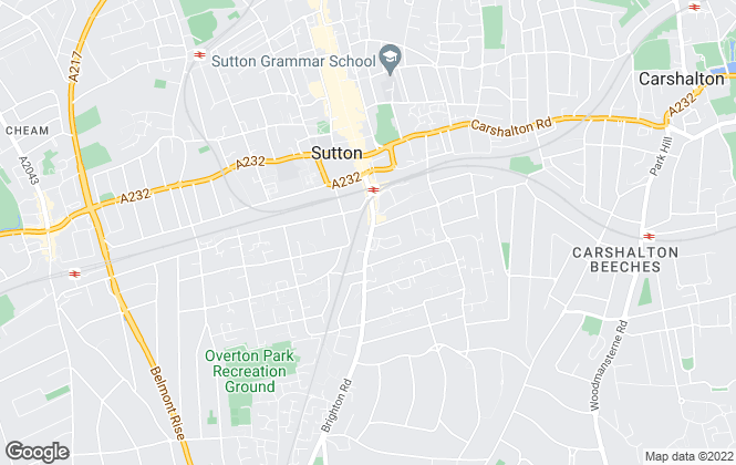 Map for Christies, Sutton