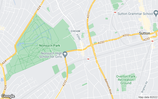 Map for Christies, Cheam