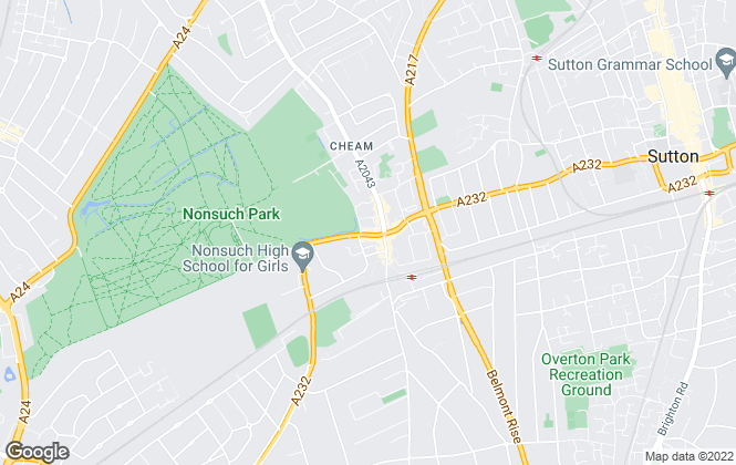 Map for Christies Residential, Cheam