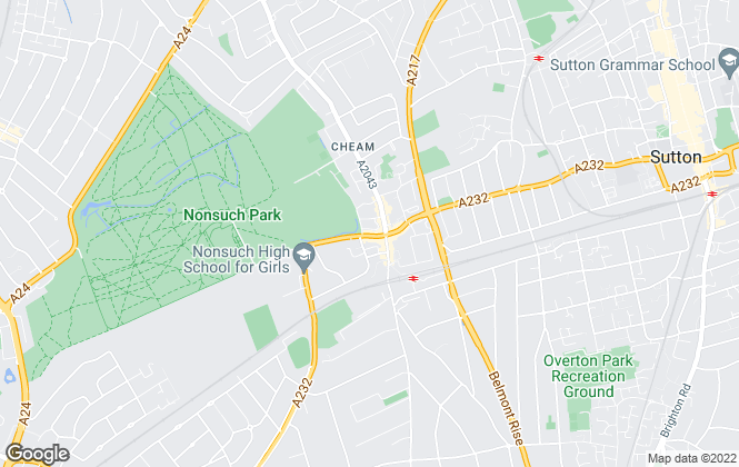 Map for Fine & Country, Cheam