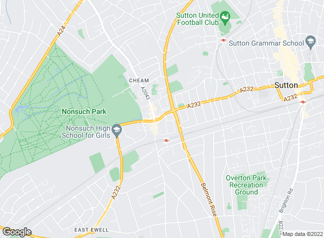Map for Cromwells Estate Agents, Cheam