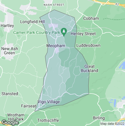 Map of property in Meopham
