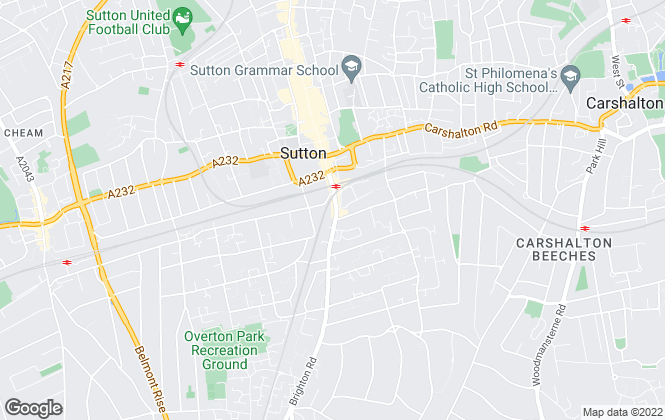 Map for Cubitt & West, Sutton