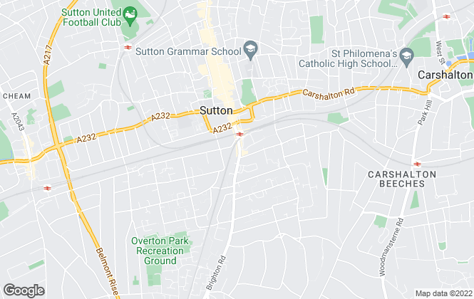 Map for Northwood, Sutton