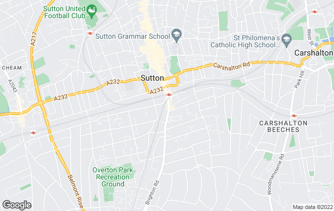 Map for Mi-Move, Sutton