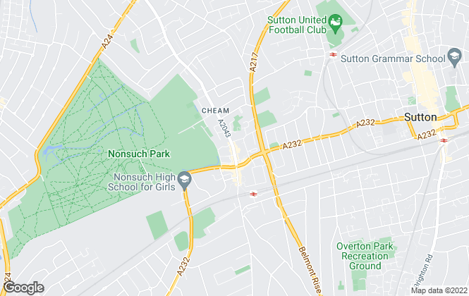 Map for Cavendish Estate Agents, Cheam