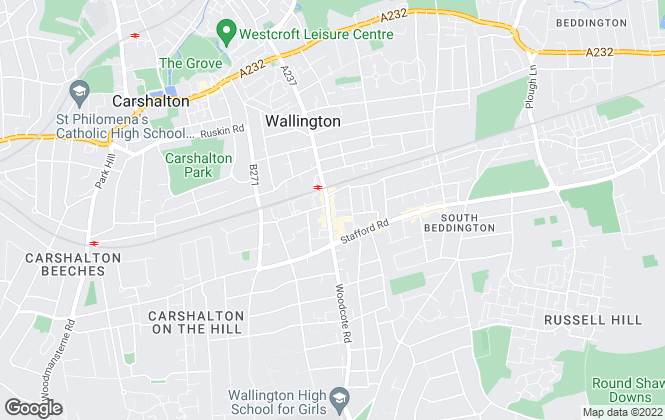 Map for Cubitt & West, Wallington