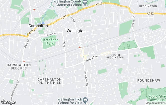 Map for Rosindale Pavitt, Wallington