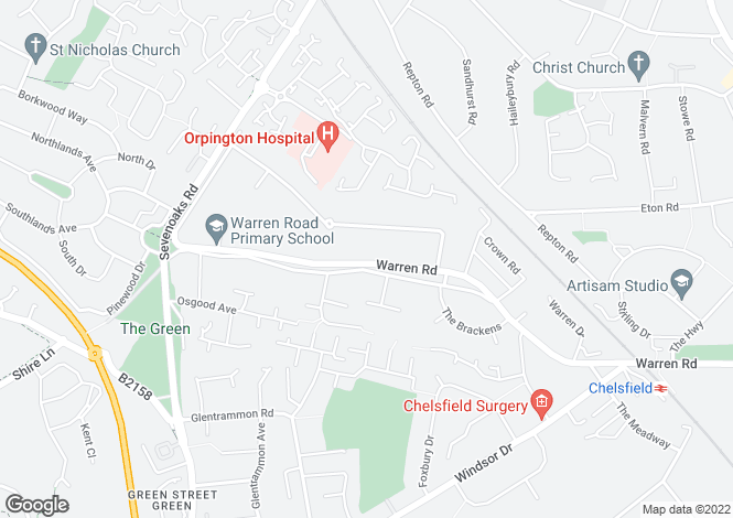 Map for School Catchment, South Orpington