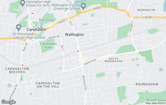 Map for Homecare Estates, Wallington