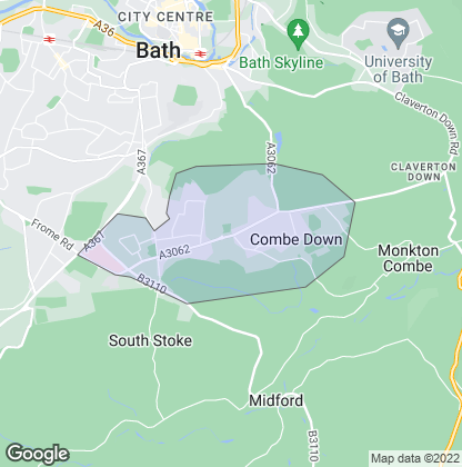 Map of property in Combe Down
