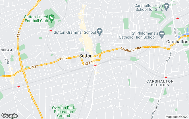 Map for Burn & Warne, Sutton