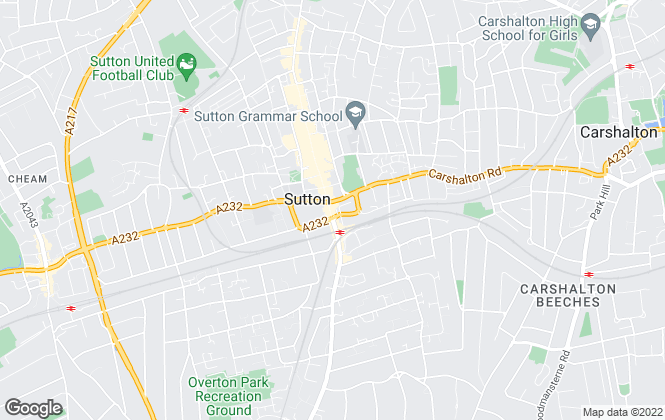 Map for Mann , Sutton