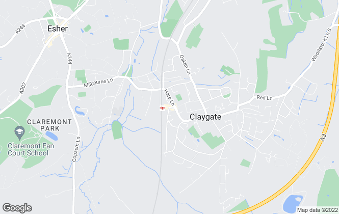 Map for Grosvenor Billinghurst, Claygate