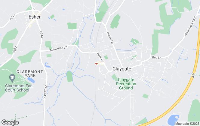 Map for Grosvenor Billinghurst, Claygate