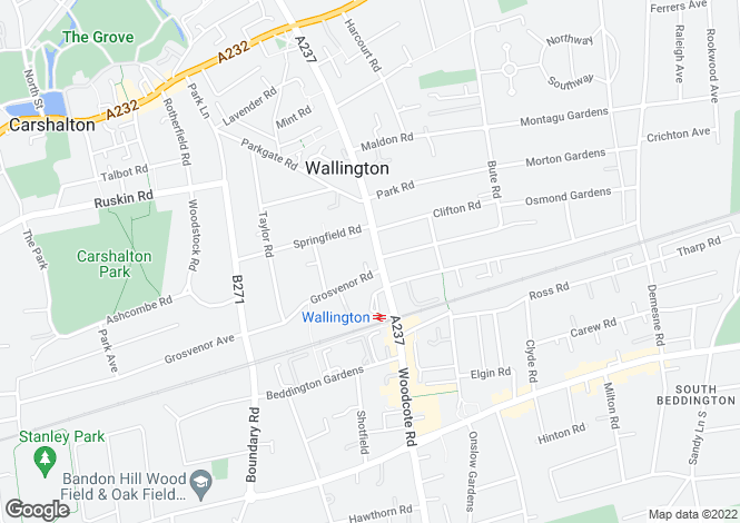 Map for Manor Road,