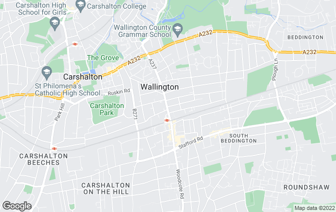 Map for Cromwells Estate Agents, Wallington