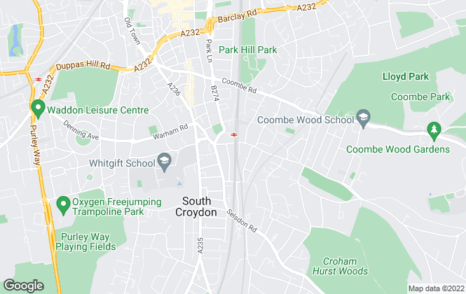 Map for Charles Fox Estate Agents, South Croydon