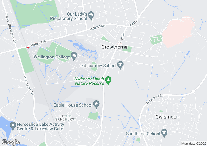 Map for CROWTHORNE