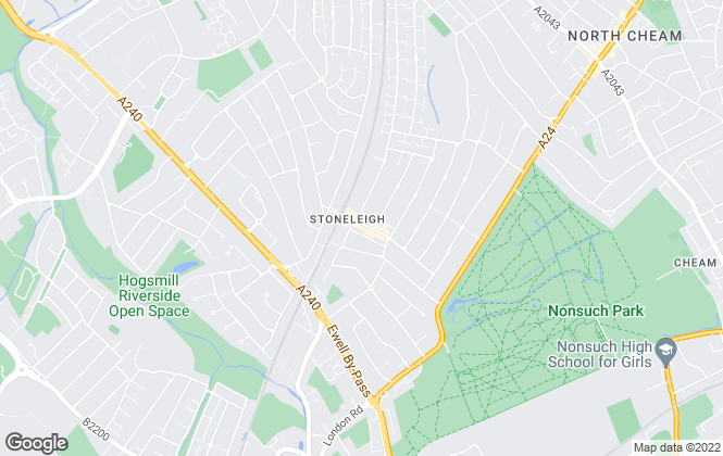 Map for Browns Property Services (Stoneleigh) Ltd, Stoneleigh