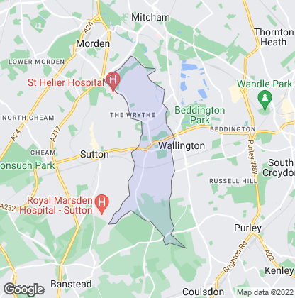 Map of property in Carshalton