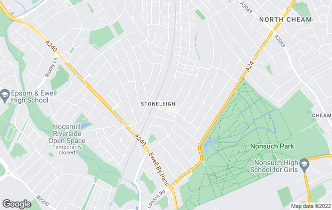 Map for Robert Dean, Stoneleigh