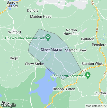 Map of property in Chew Magna