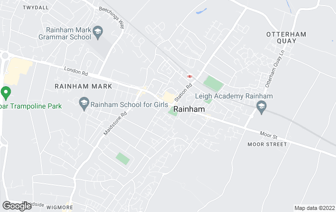 Map for YOUR MOVE, Rainham