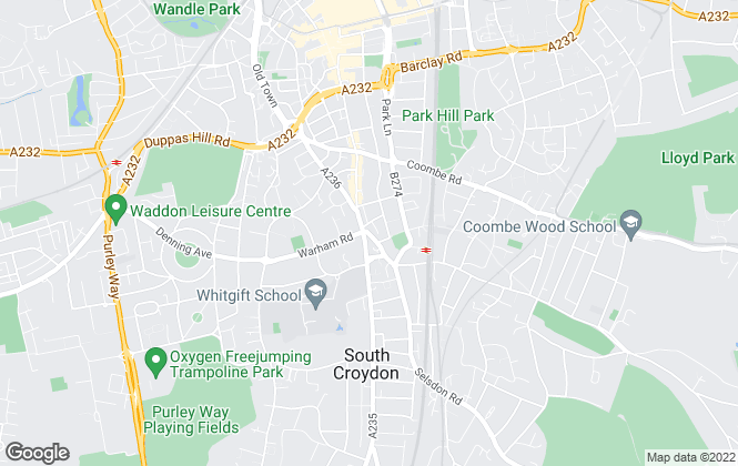 Map for Chilcott White & Co Estate Agents, Croydon