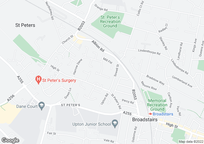 Map for St Peters Court, BROADSTAIRS, Kent, England