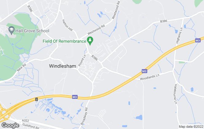 Map for Newton Rowe, Windlesham