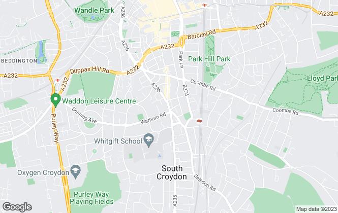 Map for Mann & Co, South Croydon