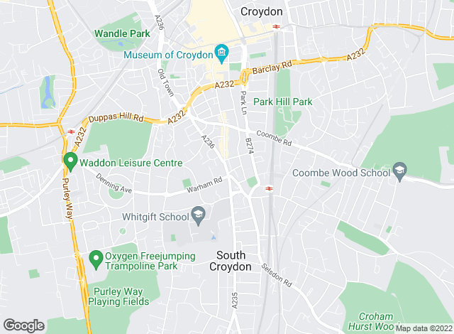 Map for Mann Countrywide, South Croydon