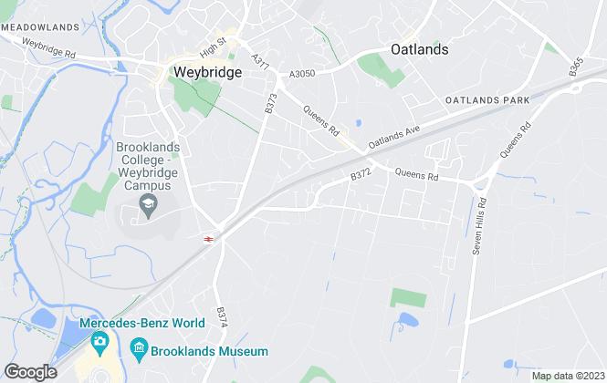 Map for kingroyal.co.uk, Weybridge