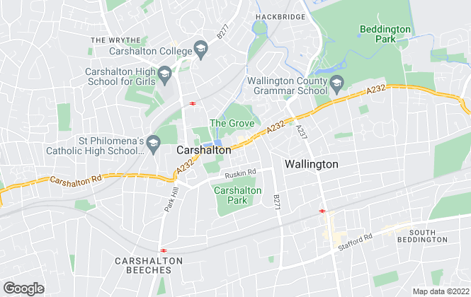 Map for Paul Graham, Carshalton