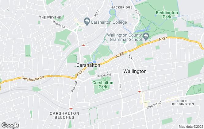 Map for Paul Graham, Carshalton