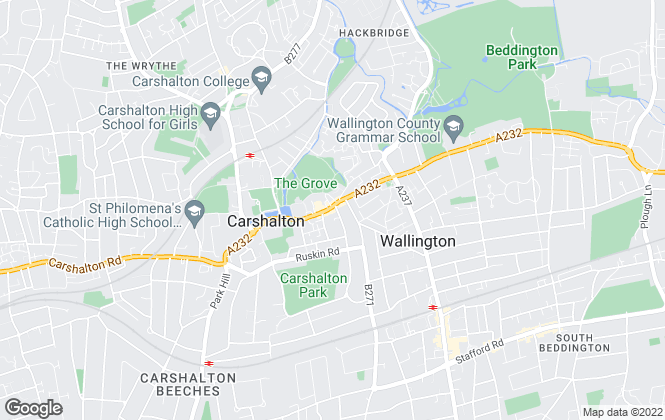 Map for Hunters, Carshalton