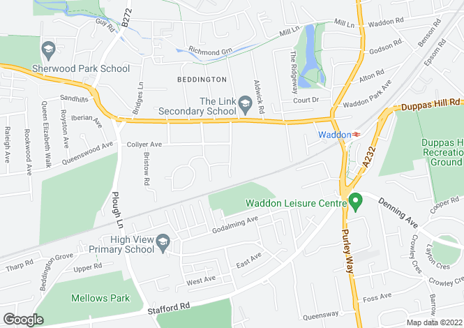 Map for Willoughby Avenue, Croydon CR0