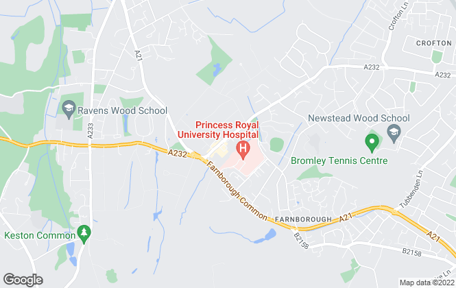 Map for Langford Russell, Locksbottom